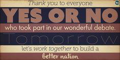 Thank you everyone #ScotlandDecides