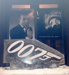 It doesn't get any cooler than this... pour your vodka martini, shaken not stirred, through a 007 ice luge.