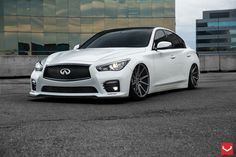 I bring this sedan Infiniti On By Vossen Wheels, in the front and in the rear in Matte Graphite . Infiniti Sedan, Infiniti Q50 Red Sport, 2015 Infiniti Q50, New Infiniti, Maserati Gt, Vossen Wheels, Sports Sedan, Car Tuning, Future Car