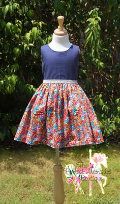 Girls Dress Girls Summer Dress Spring Dress Floral Dress by ThePMB