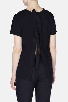 ae66f28f5a8 Proenza Schouler — S S Top W Back Ties Cotton Jersey Black — THE