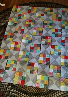 Planning where the blocks will go on the Sweety Pie quilt