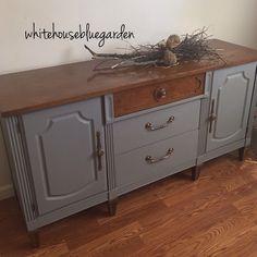 Stanley vintage dresser - buffet has 3 drawers and storage behind doors. Painted…
