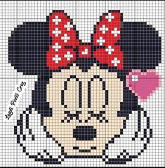 Cross Stitch For Kids, Cross Stitch Rose, Cross Stitch Charts, Cross Stitch Designs, Cross Stitch Patterns, Theme Mickey, Mickey Minnie Mouse, Geometric Shapes Art, Unicorn Cross Stitch Pattern