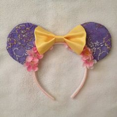 Rapunzel Mickey Mouse ears by Mousehouseboutique on Etsy