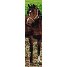 Horse Peyote Beading Pattern Bracelet, Even Count Peyote Stitch, Seed Bead Pattern, Beaded Pattern, Beadwork Peyote Patterns Peyote Beading Patterns, Beaded Necklace Patterns, Seed Bead Patterns, Loom Beading, Bead Loom Bracelets, Peyote Bracelet, Cuff Bracelets, Seed Bead Earrings, Seed Beads