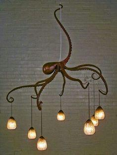 Octopus chandelier - Horrific finds