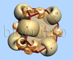 Con questo schema è possibile realizzare orecchini, elementi per collane e per bracciali               MATERIALE:  4 diverse misure di perle...