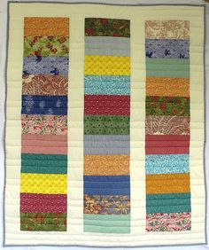 Baby quilt. This would be cute with Lorax fabric from jelly rolls.