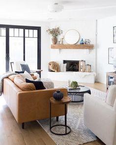 Kitnet & Studio Decoration: Designs & Photos - Home Fashion Trend Home Living Room, Living Room Designs, Living Room Furniture, Home Furniture, Living Room Decor, Modern Furniture, Rustic Furniture, Antique Furniture, Furniture Storage