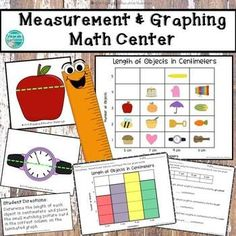 Measurement and Graphing Math Center 2nd Grade Centers, First Grade Math, Math Centers, Second Grade, Project Based Learning, Fun Learning, Math Resources, Classroom Resources, Math Lessons