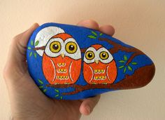 Painted owl rock.