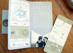♡ Our Wedding Invites by Carla @ Grapevine Design ♡