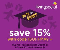 Find the perfect gift for your grad, dad, or even yourself 15% off from Living Social - http://www.pinchingyourpennies.com/find-perfect-gift-grad-dad-even-15-living-social/ #Couponcode, #Livingsocial, #Pinchingyourpennies