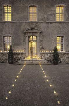 Romantic entrance at Château de Moissac - Haute Provence. Sets the mood for an enchanted evening.