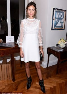 Beauty: Alexa Chung proved she looks just as glamorous off the runway, as she attended a stat-studded celebration of Vogue magazine at New York Fashion Week on Monday night