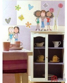 Home Decor Mural Art Wall Paper Stickers-fashionable girls IHS-309 by Victoria's deco, http://www.amazon.com/dp/B002LA5IN6/ref=cm_sw_r_pi_dp_lMEXpb0TPD7C8