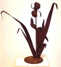 Iris Metal Garden Sculpture