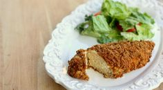 Healthy Fiber One™ Parmesan Crusted Chicken that tastes like it is fried but is baked until it& perfectly golden and crispy. Lchf, Keto, Parmesean Crusted Chicken, Parm Chicken, Dijon Chicken, Sesame Chicken, Healthy Cooking, Healthy Eating, Healthy Recipes