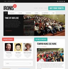 JA Ironis - Events & Blog Template