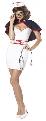 Army Nurse Adult Military Pin Up Calendar Costume - I'm going to suggest this for our pinning