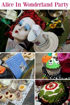 This Alice In Wonderland party is filled with DIY crafts, and set up magically in a garden. This is a quirky party theme that can be enjoyed by the young and old. Everything in the party planning has attention to detail, and will provide plenty of inspira Wonderland Party, Alice In Wonderland, Mad Hatter Party, Madd Hatter, Alice Tea Party, Girl Themes, Diy Party Decorations, Childrens Party, New Years Eve Party