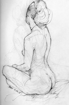 nudes laying drawing triptych - Google Search