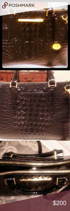 Brahmin Handbag Croc style handbag black and gold Brahmin Bags Shoulder Bags