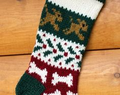 Hand knit Christmas Stocking for your Dog - Edit Listing - Etsy
