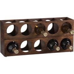 Wood Wall Mount Stacking Wine Racks