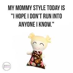 """But of course that doesn't work and I run into someone I haven't seen in years.     Adorable 8"""" Kylin is perfect for your little cuddle monsters!  Customize her at jessicadolls.com!!  #jessicadolls #jdKylin #mommystyle #momstyle #mamastyle #lookingrough #whatthehell #casualstyle #whatever"""