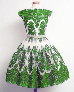 Green Short Prom Dress, Short Prom Dresses,2016 Prom Dresses,Vintage Prom…