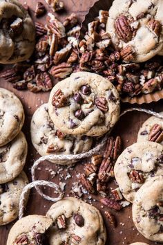 Browned Butter Pecan Chocolate Chip Cookies.