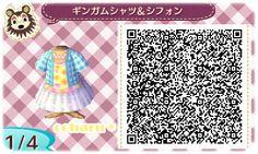 * Gingham shirt & chiffon skirt 1 *  http://kitty22.blog.fc2.com/blog-entry-64.html