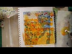 Art Journal Walk-Through & Creating a Page. ust finished another video, this time it's a walk through one of my journals followed by a process piece as I make this page. You might be surprised by how it looked to start with when you see where it finished up, but that's part of the fun of creation. I often don't know where things are going until they get there, and that's ok once I let go of any preconceptions I might have and let things just happen!