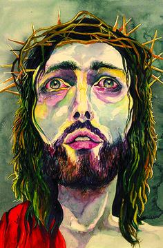 Christ Portrait in Watercolors