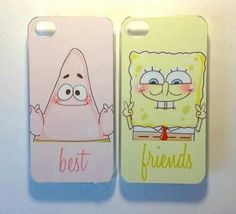 Spongebob and patrick best friends phone cases! love these cases