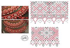 Natali Khovalko Diy Necklace Patterns, Beaded Bracelet Patterns, Bead Loom Patterns, Peyote Patterns, Craft Patterns, Jewelry Patterns, Beading Patterns, Beaded Jewelry, Fabric Origami