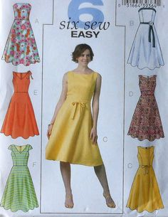 Sleeveless Dress Sewing Pattern UNCUT Butterick B4443 Sizes 16-22 summer spring strapless---- this would be a great dress for my daughter