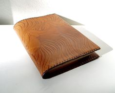 Leather Book Cover Vintage Large Notebook cover by MerilinsRetro, $25.00
