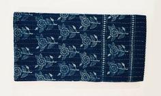 Hand Block Printed Indigo Quilt by ShopKatharineWatson on Etsy