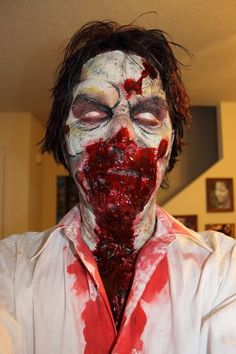 Zombie special effects makeup sfx special effects #specialfx #specialeffects makeup #face effects #unwoundfx