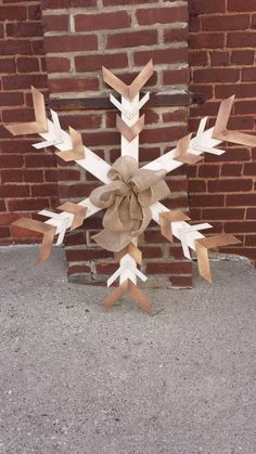 Check out this item in my Etsy shop https://www.etsy.com/listing/210009860/handmade-wooden-snowflakes-3ft-x-3ft-out