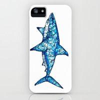 Shark iPhone & iPod Case by Kate Fitzpatrick Cute Phone Cases, Iphone Phone Cases, Iphone 5s, Pet Shark, Shark Bait, Shark Clothes, Save The Sharks, Shark Tattoos, Pin On