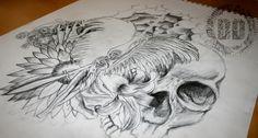 A Guardian Angel Tattoo Design - Good Versus Evil - Dark Design Graphics   Graphic Design Newcastle