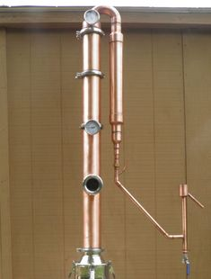 "4"" Copper Moonshine Still Reflux Column with Gin Basket, Sight Glass & Parrot #AffordableDistilleryEquipmentLLC"