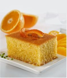 10 Minuets : Have you tried Revani dessert with orange? Gorgeous for sweet lovers Orange Dessert, Food Articles, Pudding Cake, Orange Recipes, Iftar, Turkish Recipes, Dessert Recipes, Desserts, Yummy Cakes