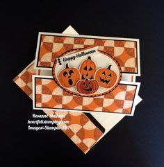 Stampin Up Spooky Night Halloween Card - Rosanne Mulhern Halloween Projects, Halloween Cards, Spooky Halloween, Happy Halloween, Halloween 2017, Halloween Stuff, Fancy Fold Cards, Folded Cards, Stampin Pretty
