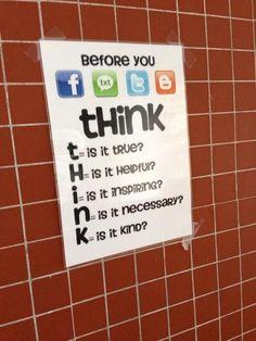 Anti-cyberbullying poster
