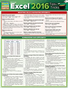 Free Excel 2010 Quick Reference Card httpwww